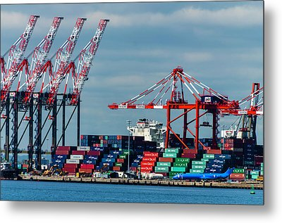 Port Newark Container Terminal Metal Print