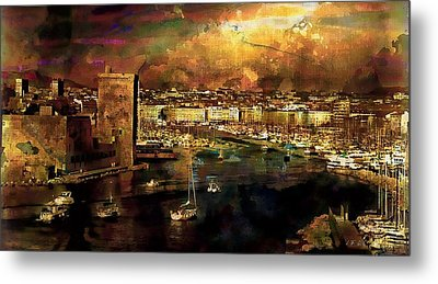 The Old Port Of Marseille Metal Print