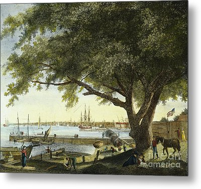 Port Of Philadelphia, 1800 Metal Print by Granger