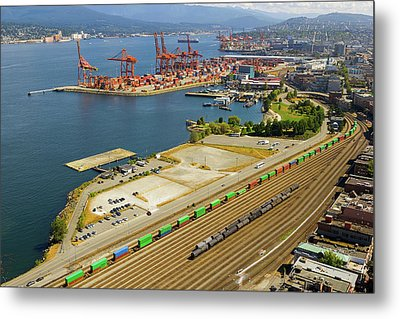 Port Of Vancouver Bc Metal Print by David Gn