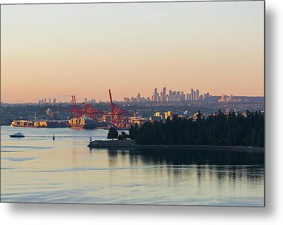 Port Of Vancouver By Stanley Park Metal Print by David Gn