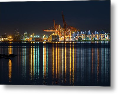 Port Of Vancouver In British Columbia Canada Metal Print by David Gn
