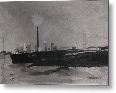 Port Talbot Steel Works Metal Print