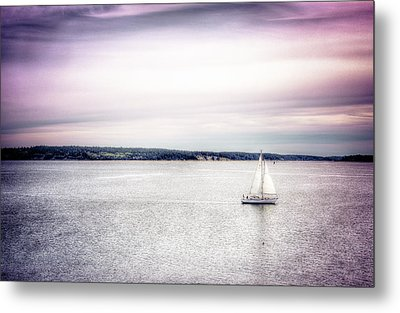 Port Townsend Sailboat Metal Print by Spencer McDonald