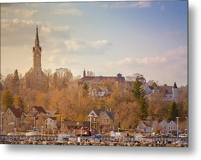 Port Washington Skyline Metal Print