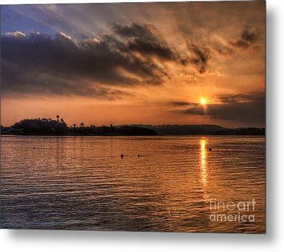 Portaferry Sunset Metal Print by Kim Shatwell-Irishphotographer