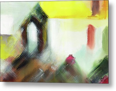 Metal Print featuring the painting Portal by Anil Nene