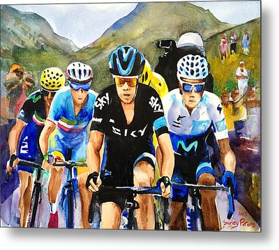 Porte Quintana Froome And Nibali Metal Print