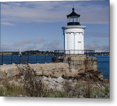 Portland Breakwater Lighthouse, Maine Metal Print by Capt Gerry Hare