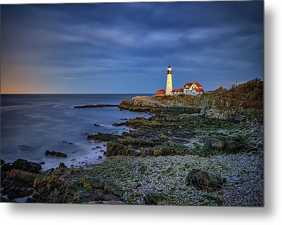 Metal Print featuring the photograph Portland Head Aglow by Rick Berk