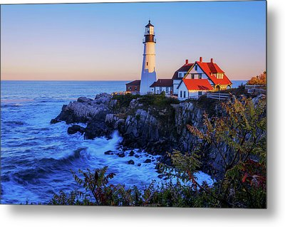 Portland Head Light II Metal Print by Chad Dutson