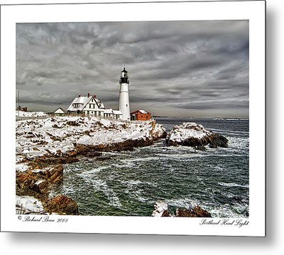 Metal Print featuring the photograph Portland Head Light by Richard Bean