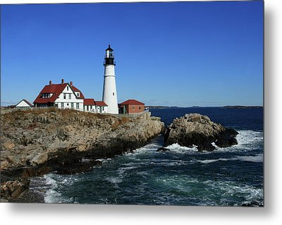 Portland Head Lighthouse Metal Print by Lou Ford
