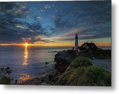 Portland Head Lighthouse Maine Sunrise Metal Print
