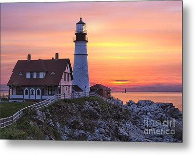 Portland Head Lighthouse Sunrise Metal Print
