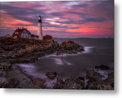 Portland Head Sunset Metal Print