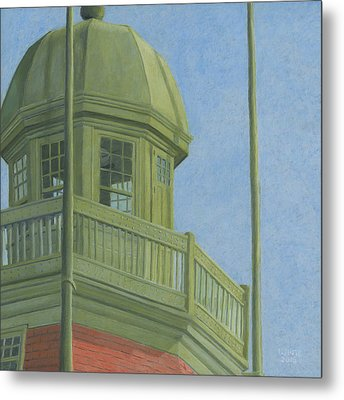 Portland Observatory In Portland, Maine Metal Print by Dominic White