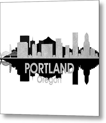 Portland Or 4 Squared Metal Print by Angelina Vick