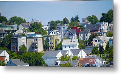 Portland Rooftops Metal Print by Faith Harron Boudreau