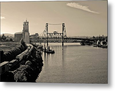 Portland Steel Bridge Metal Print by Albert Seger