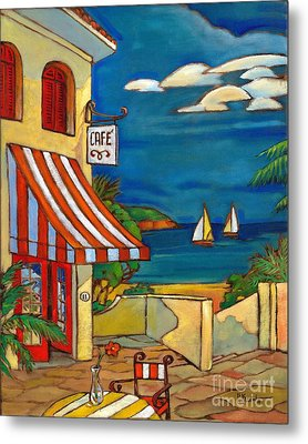 Portofino Cafe Metal Print by Paul Brent