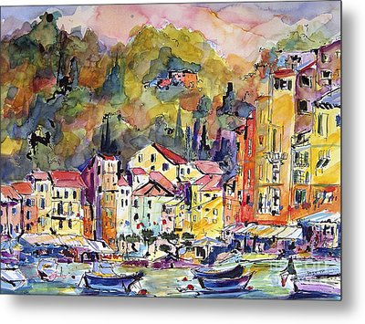 Portofino Italy Metal Print by Ginette Callaway