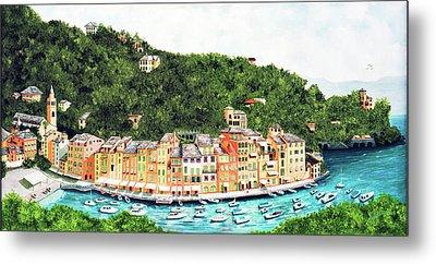 Portofino, Italy Prints From Myoriginal Oil Painting Metal Print