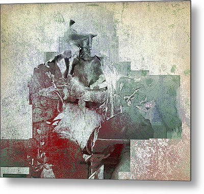Metal Print featuring the photograph Portrait Abstract Variation #04 by Richard Wiggins
