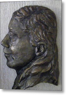 Portrait In Bronze Metal Print by Willoughby Senior