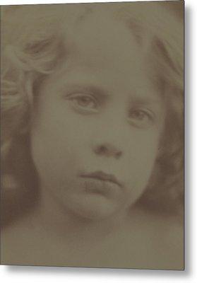 Portrait Of A Child, 1866 Metal Print by Julia Margaret Cameron