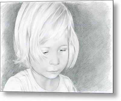 Portrait Of A Child 2 Metal Print by Bitten Kari