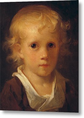 Portrait Of A Child Metal Print by Jean-Honore Fragonard