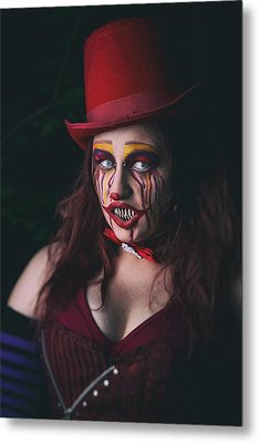 Portrait Of A Clown Metal Print