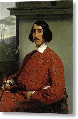 Portrait Of A Gentleman. Duke Manolo Nunez Falco Metal Print by Francesco Hayez