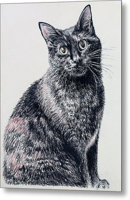 Portrait Of A Good Looking Cat Metal Print