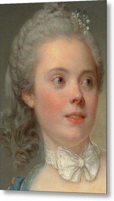 Portrait Of A Lady Metal Print by Jean Baptiste Greuze
