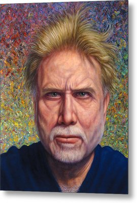 Portrait Of A Serious Artist Metal Print by James W Johnson