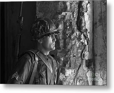 Portrait Of A Soldier 1961 Metal Print by The Harrington Collection