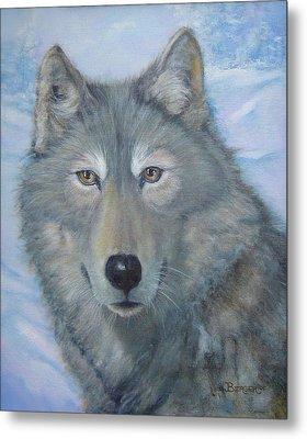 Portrait Of A Wolf Metal Print