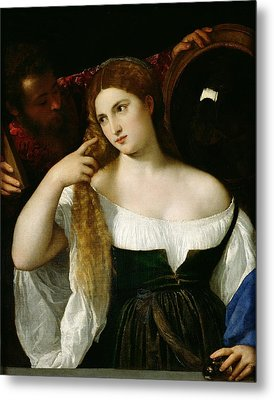 Portrait Of A Woman At Her Toilet Metal Print by Titian
