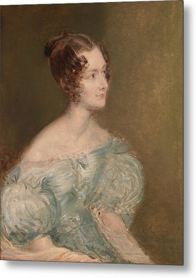 Portrait Of A Woman, Probably Mrs. Price Of Rugby Metal Print
