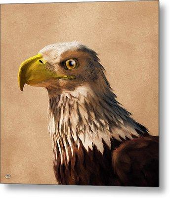 Metal Print featuring the digital art Portrait Of An Eagle by Daniel Eskridge
