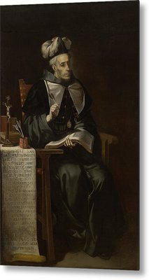 Portrait Of An Ecclesiastic Metal Print by Mountain Dreams