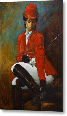 Portrait Of An Equestrian Metal Print
