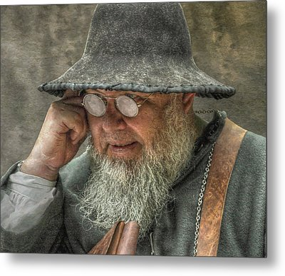 Portrait Of An Old Man Metal Print by Randy Steele