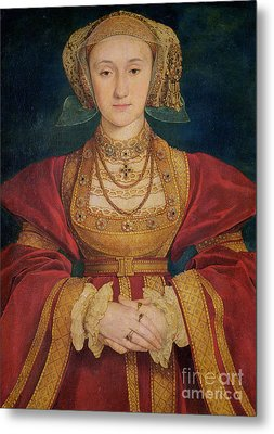 Portrait Of Anne Of Cleves  Metal Print by Hans Holbein