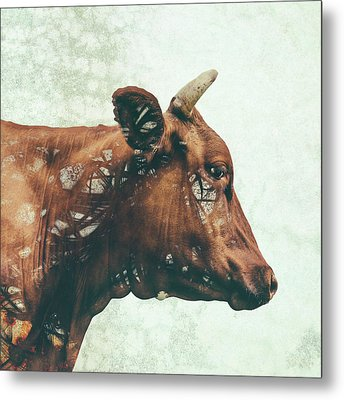 Portrait Of Bess Metal Print by Katherine Smit