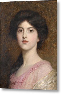 Portrait Of Camille Sutton Palmer Metal Print by Celestial Images