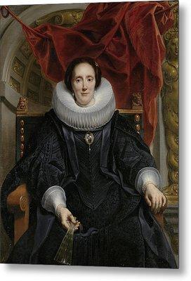 Portrait Of Catharina Behaghel Metal Print by Jacob Jordaens