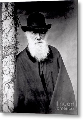 Portrait Of Charles Darwin Metal Print